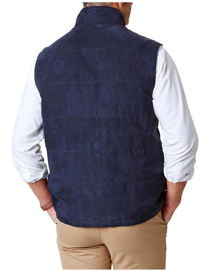 Suede Look Quilted Vest image 2