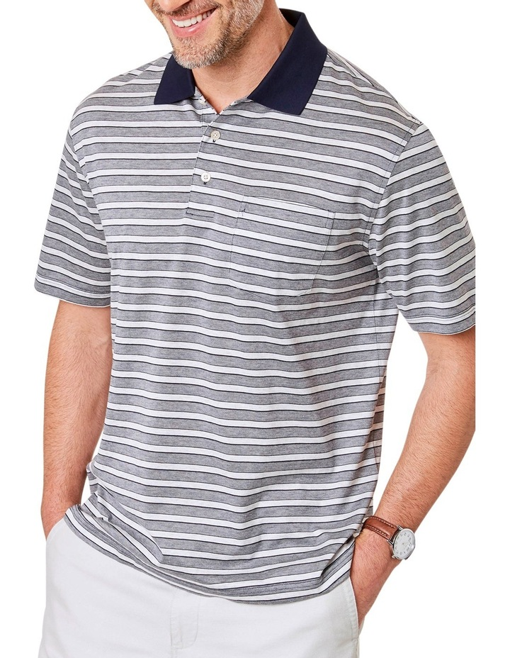 Mercerised Stripe Polo image 1
