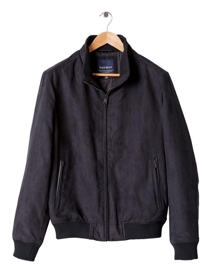 Suede Look Printed Blouson Jacket image 4