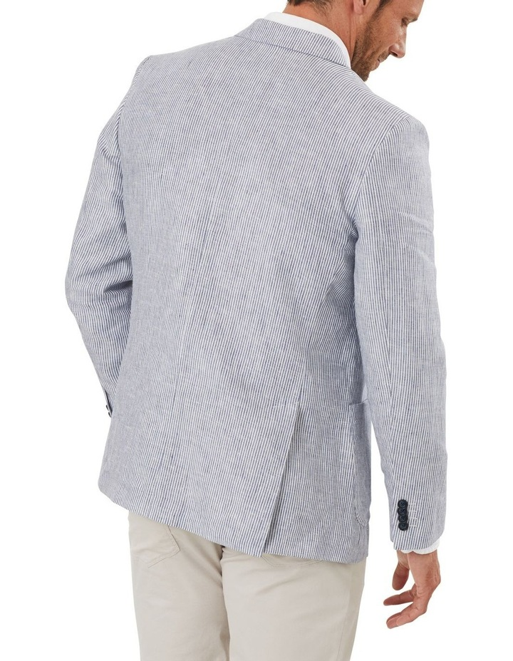 Tailored Pure Linen Stripe Blazer image 2