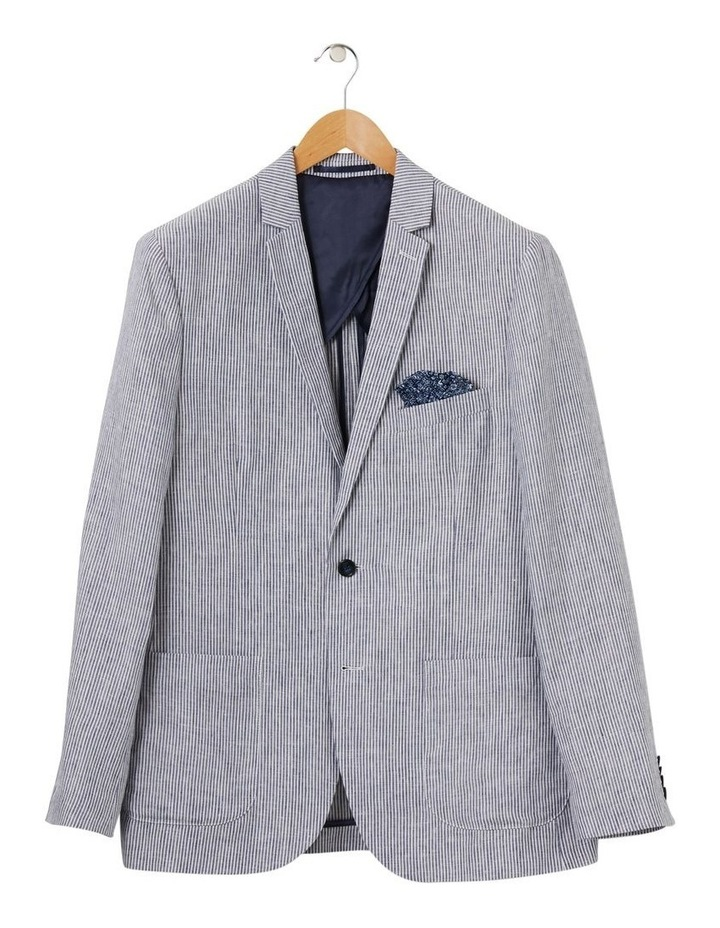 Tailored Pure Linen Stripe Blazer image 4