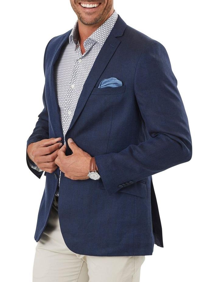 Tailored Linen Herringbone Blazer image 1