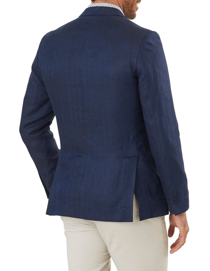 Tailored Linen Herringbone Blazer image 2