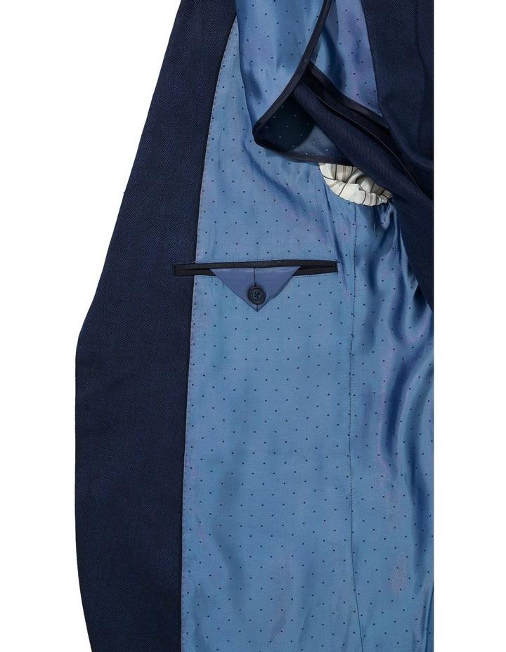 Tailored Linen Herringbone Blazer image 3