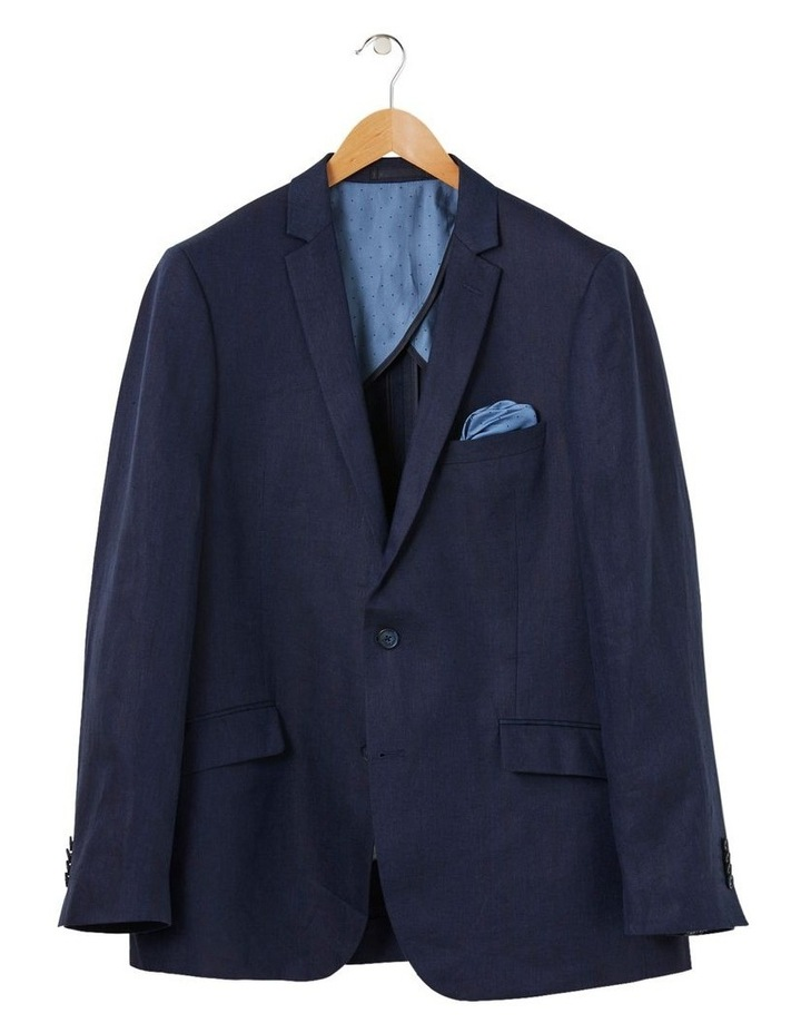 Tailored Linen Herringbone Blazer image 4