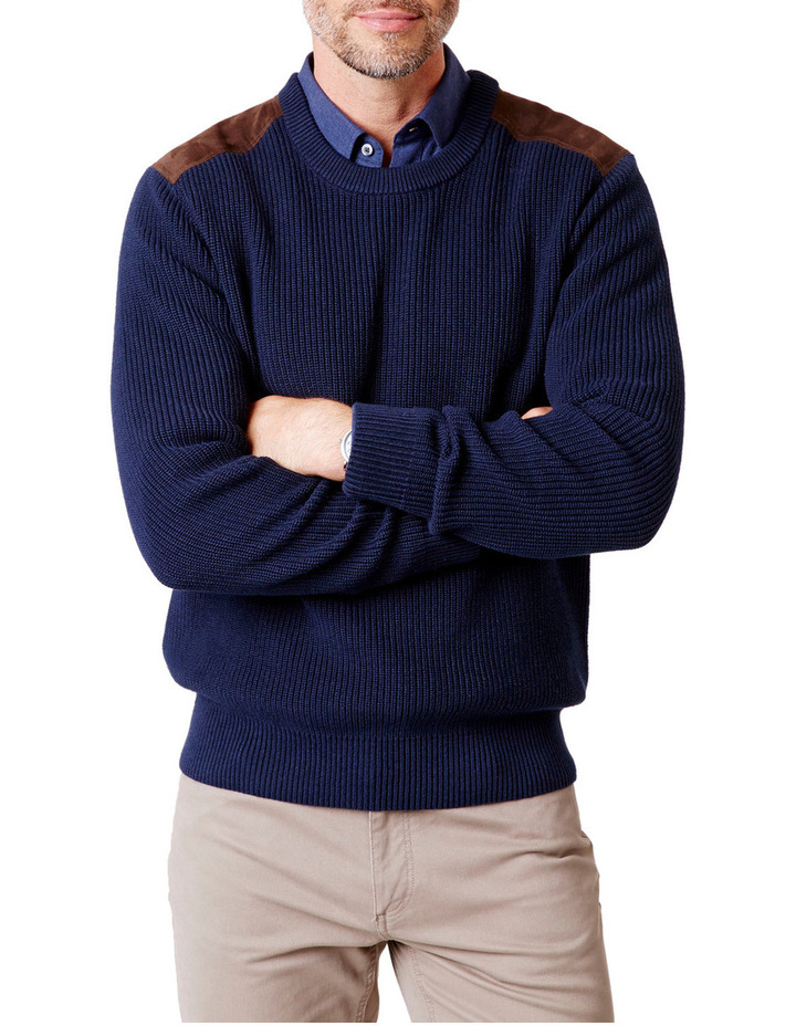Chunky Fishermans Crew Neck Knit image 1