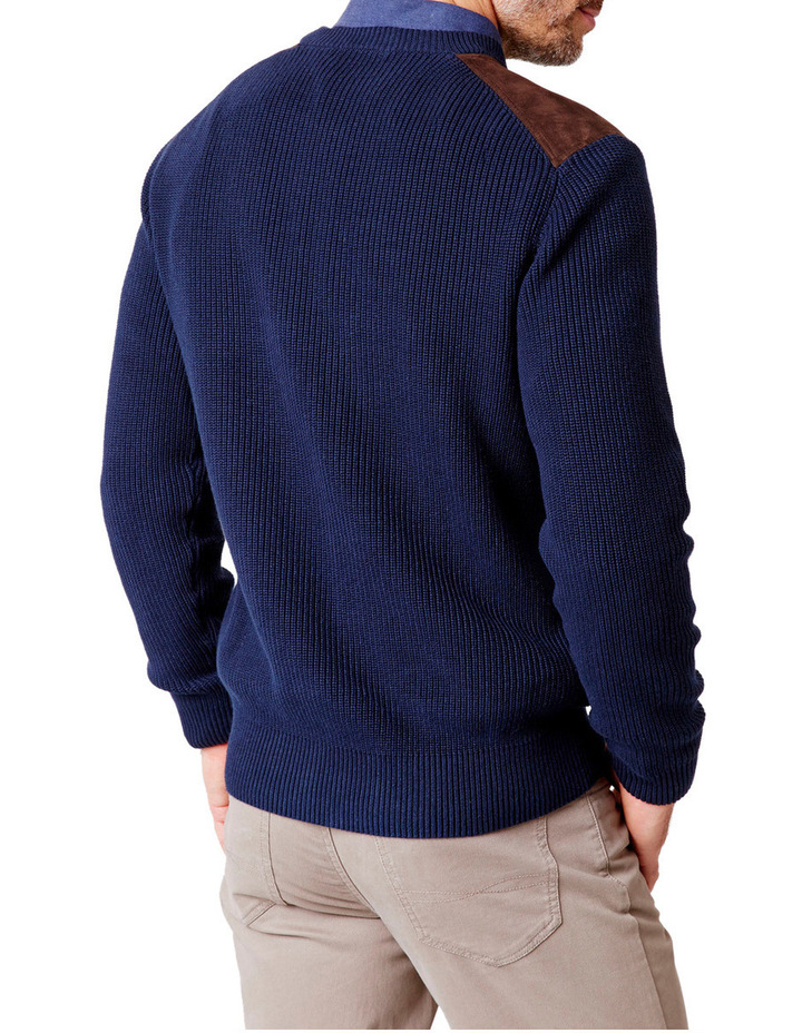 Chunky Fishermans Crew Neck Knit image 2