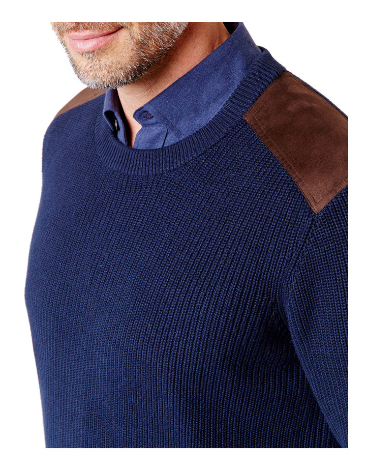 Chunky Fishermans Crew Neck Knit image 3