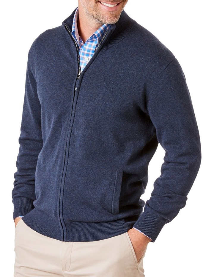Stretch Full Zip Through Knit image 1