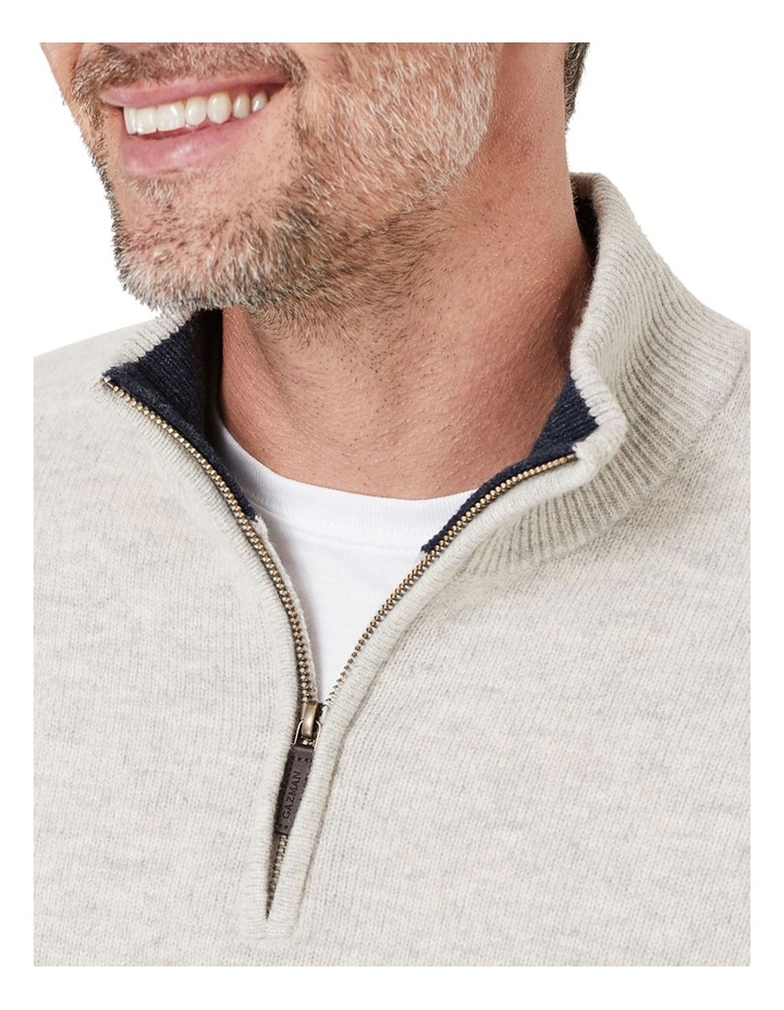 Wool Blend 1/2 Zip Knit image 3