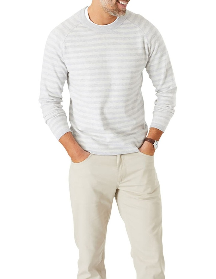 Tonal Stripe Crew Neck Knit image 1