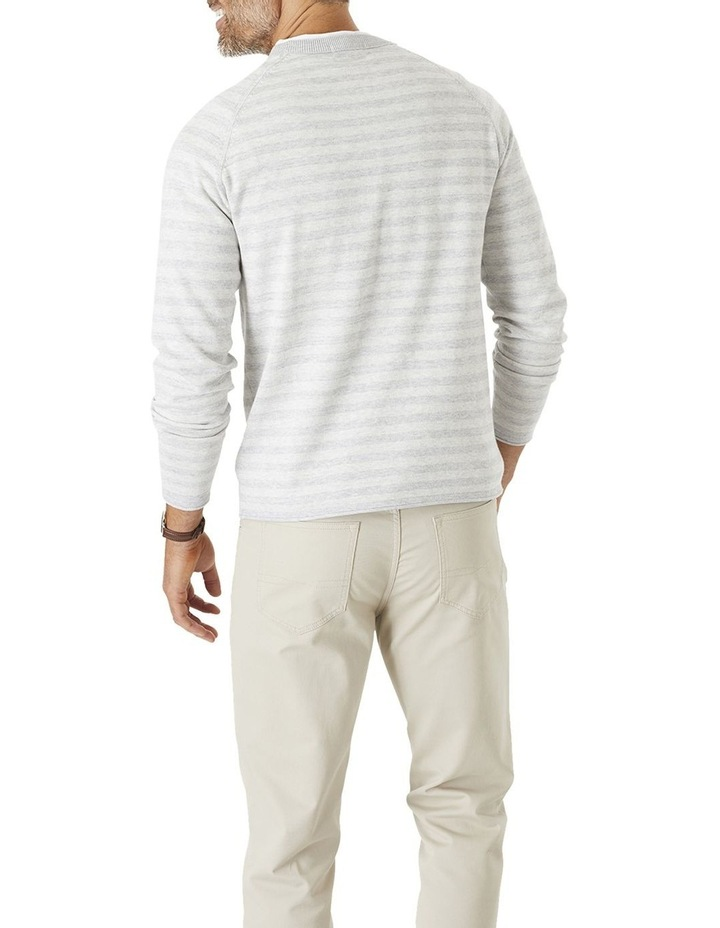 Tonal Stripe Crew Neck Knit image 2