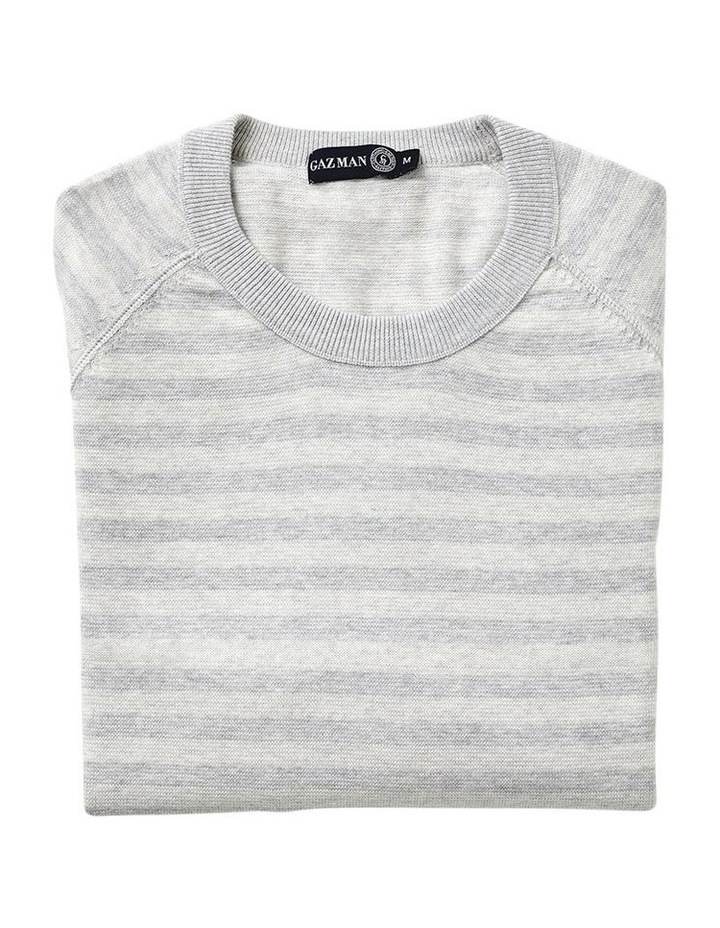 Tonal Stripe Crew Neck Knit image 4