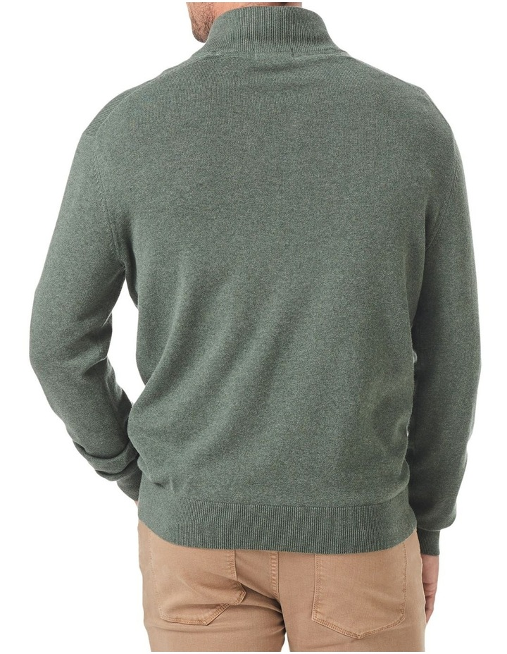 Cotton Stretch Half Zip Knit image 2