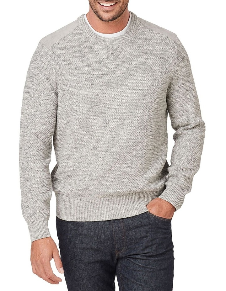 Textured Cotton Crew Knit image 1