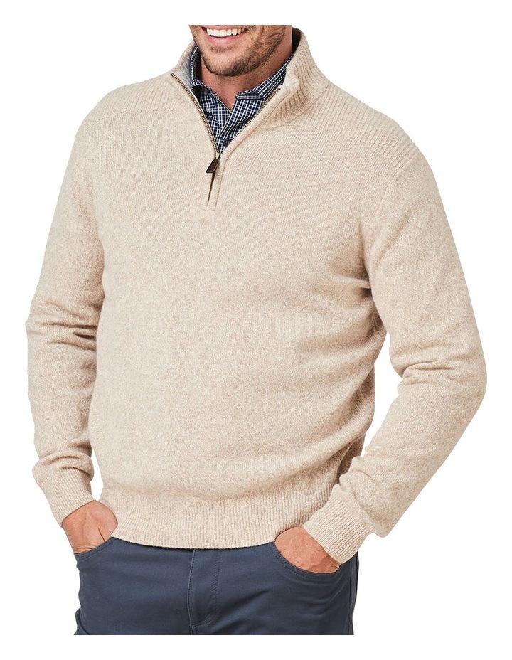 Wool Blend 1/2 Zip Knit image 1