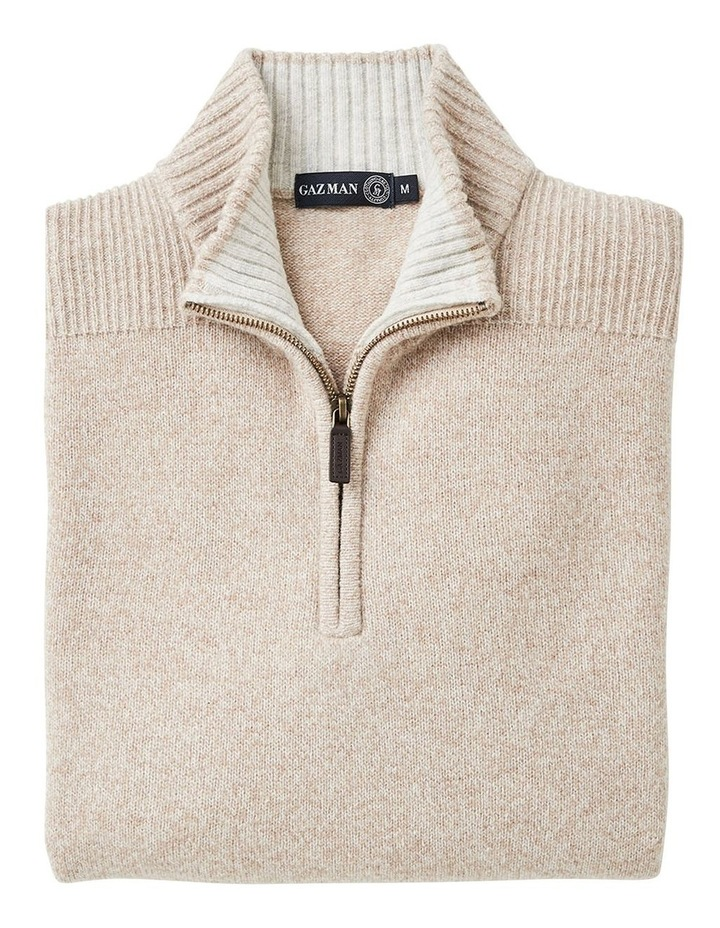Wool Blend 1/2 Zip Knit image 4