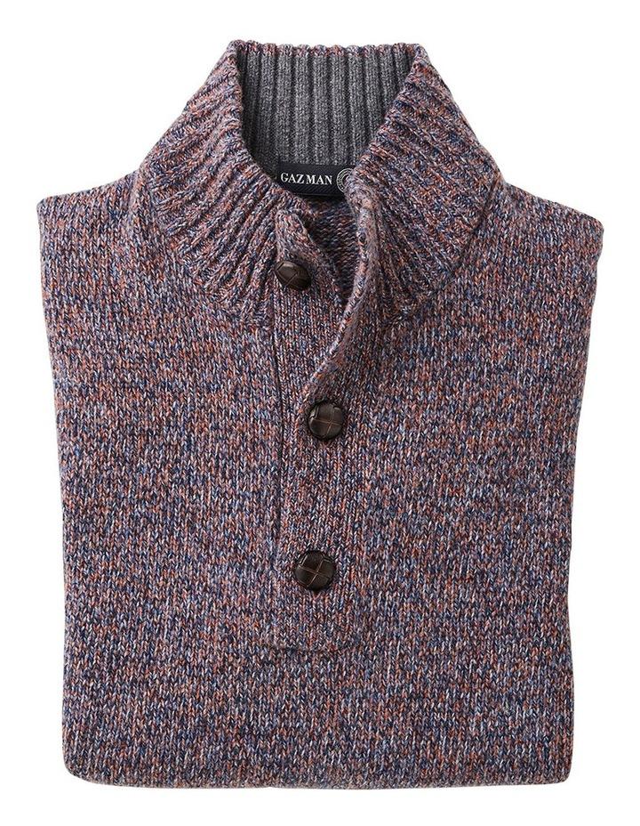 Wool Blend Button Neck Knit image 4