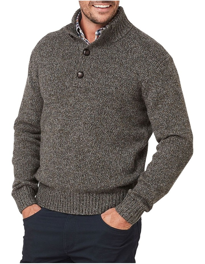 Wool Blend Button Neck Knit image 1