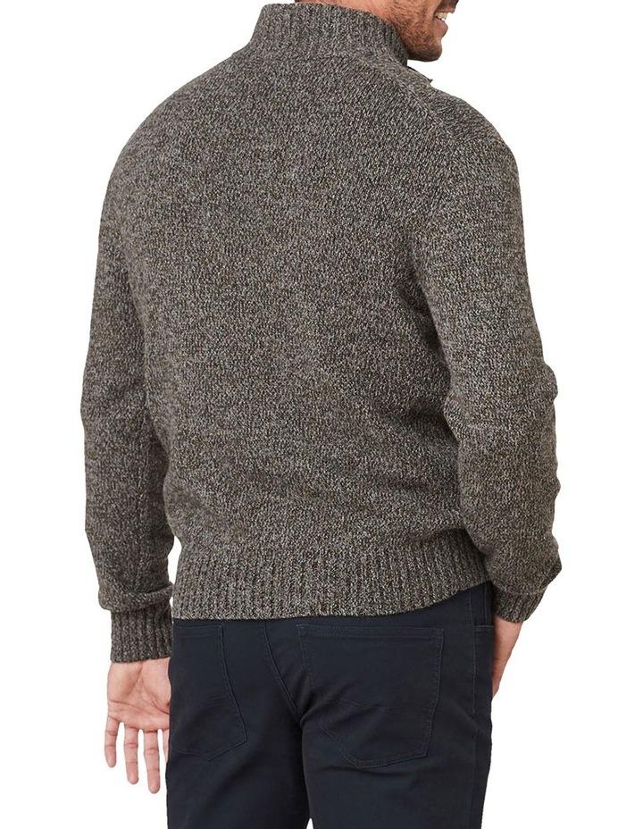 Wool Blend Button Neck Knit image 2