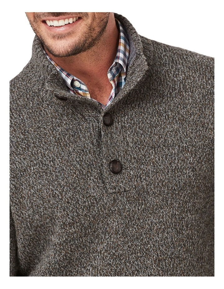 Wool Blend Button Neck Knit image 3