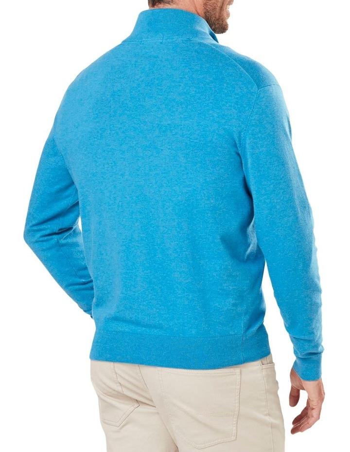 Cotton Stretch Half Zip Knit image 2