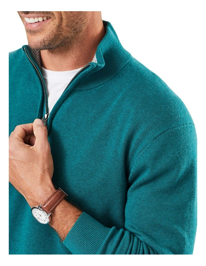 Cotton Stretch Half Zip Knit image 3