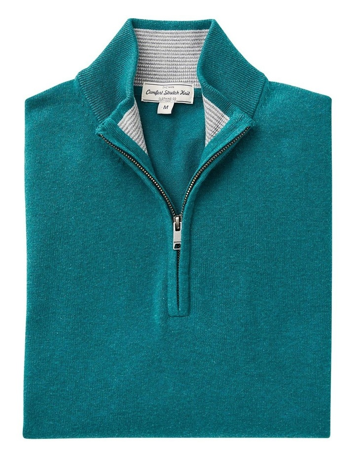Cotton Stretch Half Zip Knit image 4