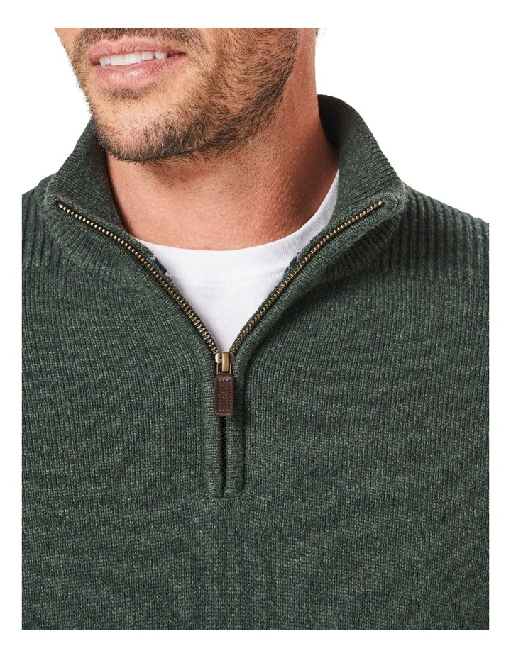 Wool Blend 1/2 Zip Knit image 3