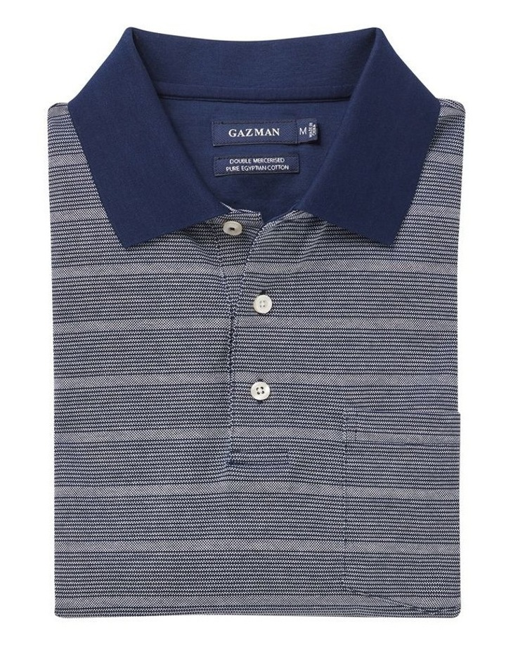 Mercerised Oxford Stripe Polo image 4