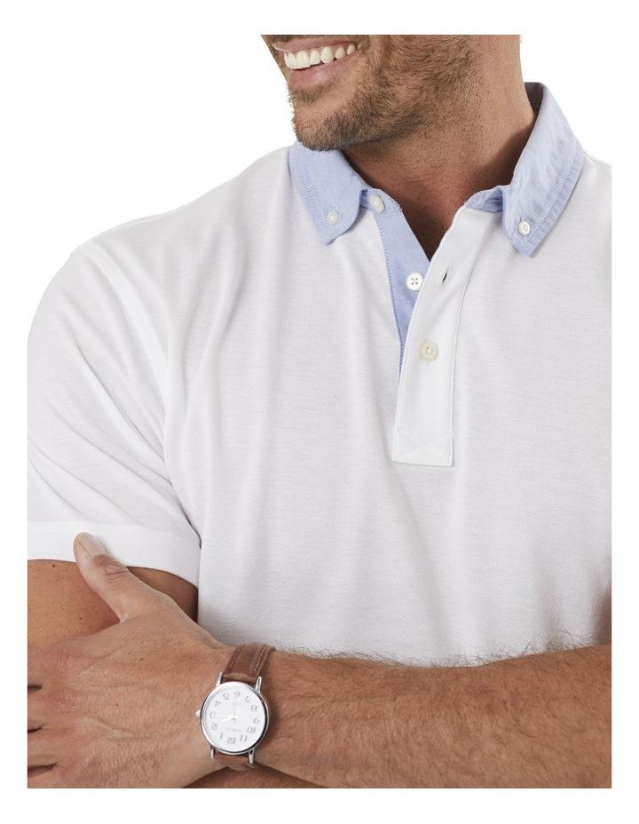 Shirt Detail Plain Polo image 3