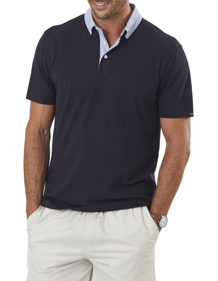 Shirt Detail Plain Polo image 1