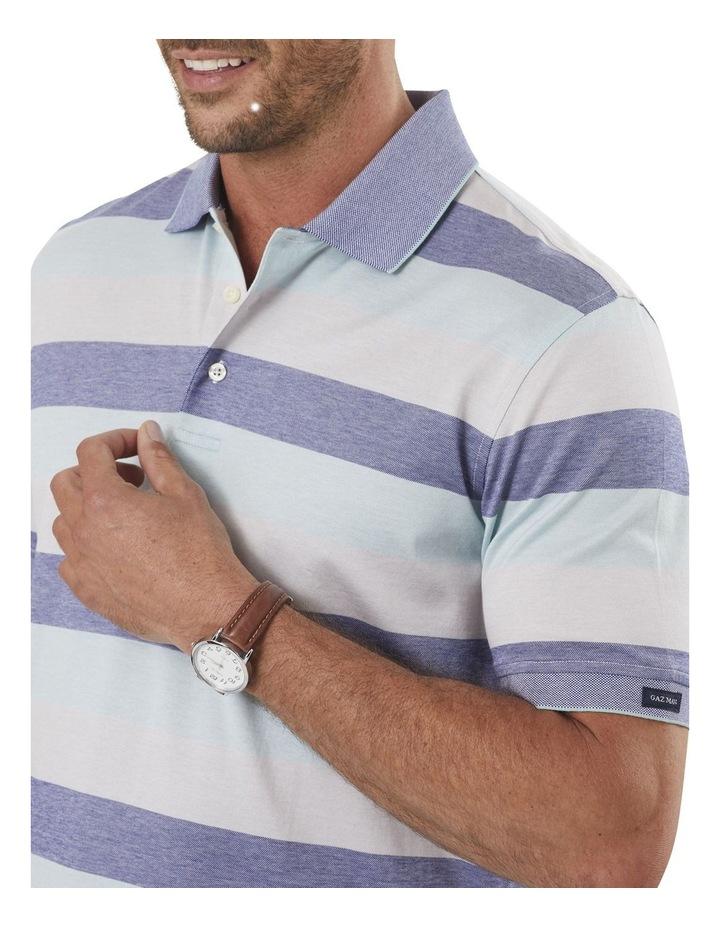 Block Stripe Mercericed Polo image 3