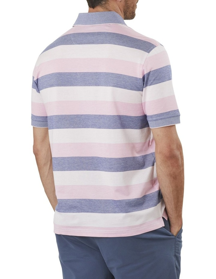 Block Stripe Mercericed Polo image 2