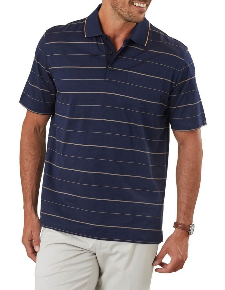 Mercerised Thin Stripe Polo image 1