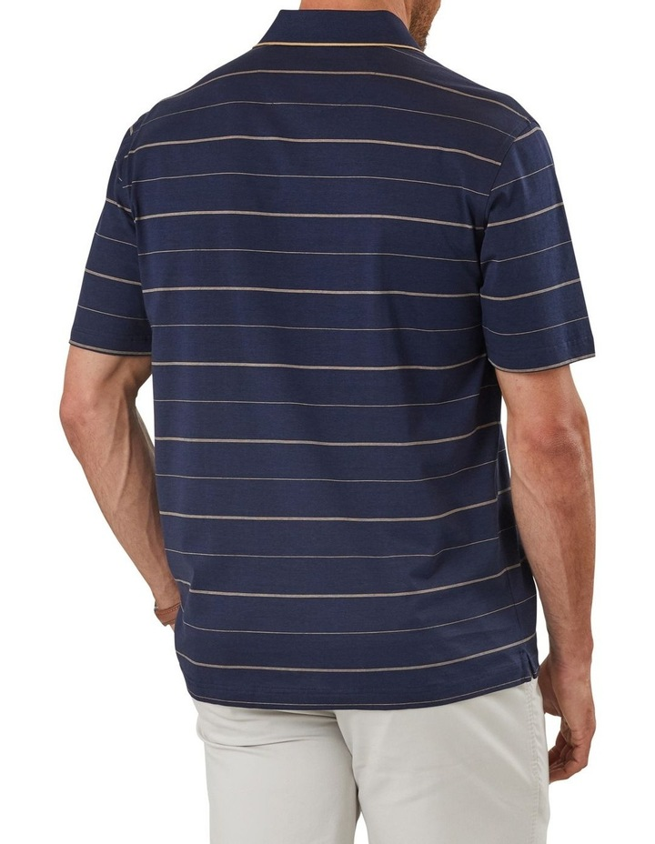 Mercerised Thin Stripe Polo image 2