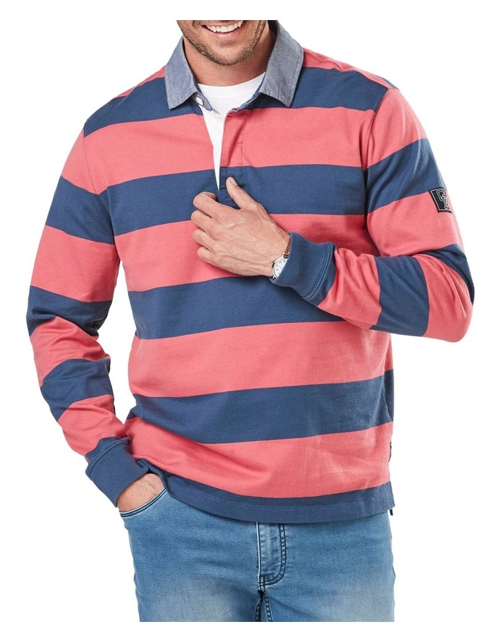 Long Sleeve Stripe Rugby image 1
