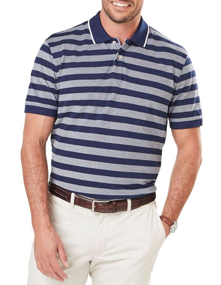 Oxford Stripe Pique Polo image 1
