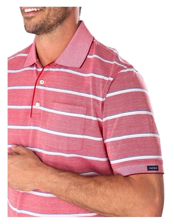Jacquard Stripe Polo image 3