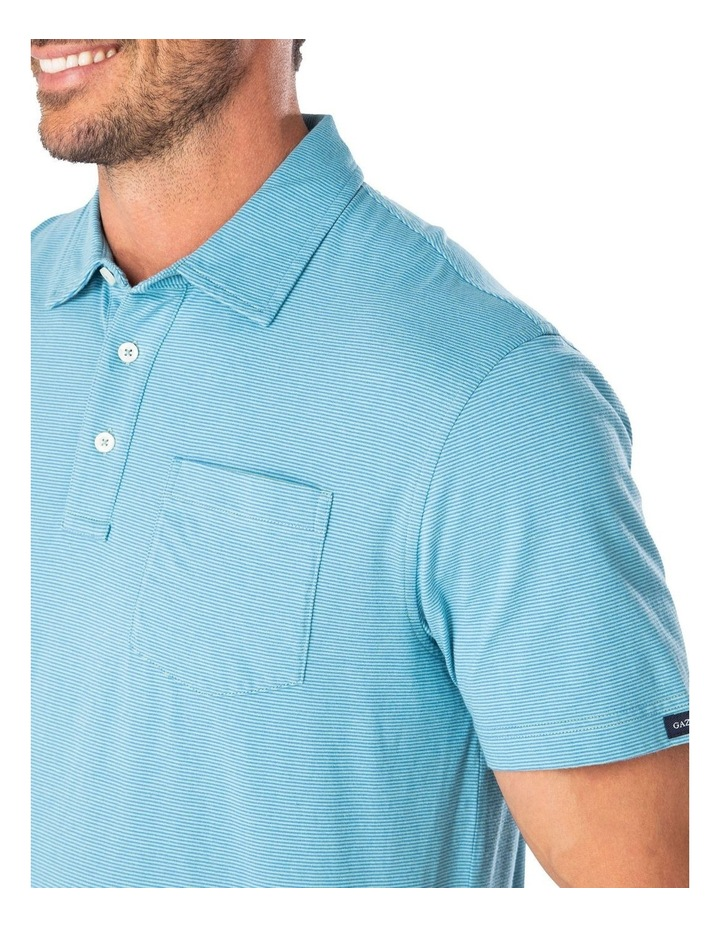 Stripe Jersey Pocket Polo image 3