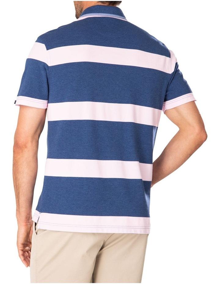 Pique Blocked Stripe Polo image 2