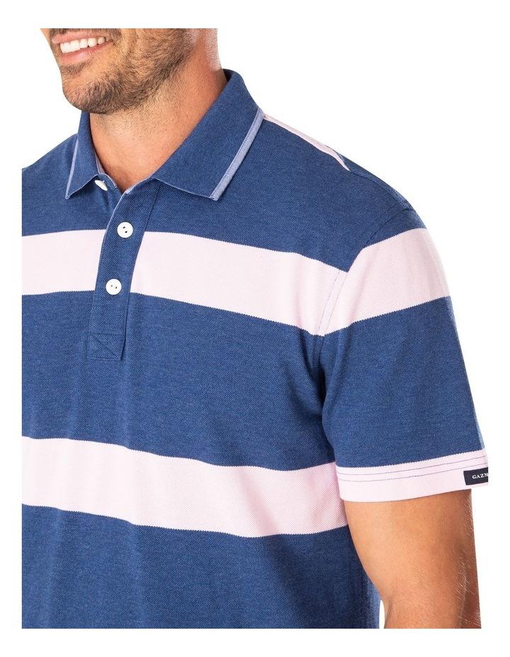 Pique Blocked Stripe Polo image 3