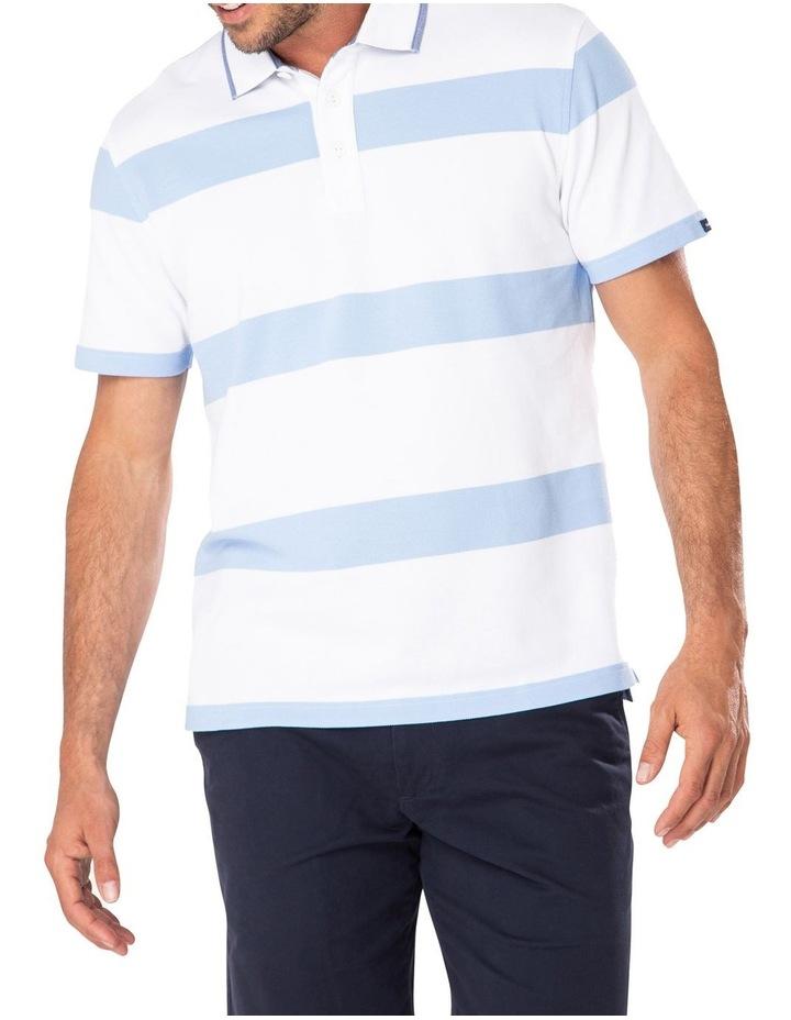 Pique Blocked Stripe Polo image 1