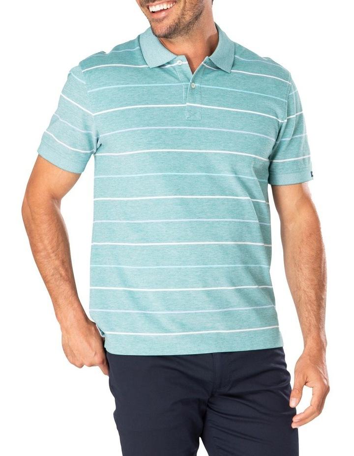 Fine Oxford Stripe Pique Polo image 1