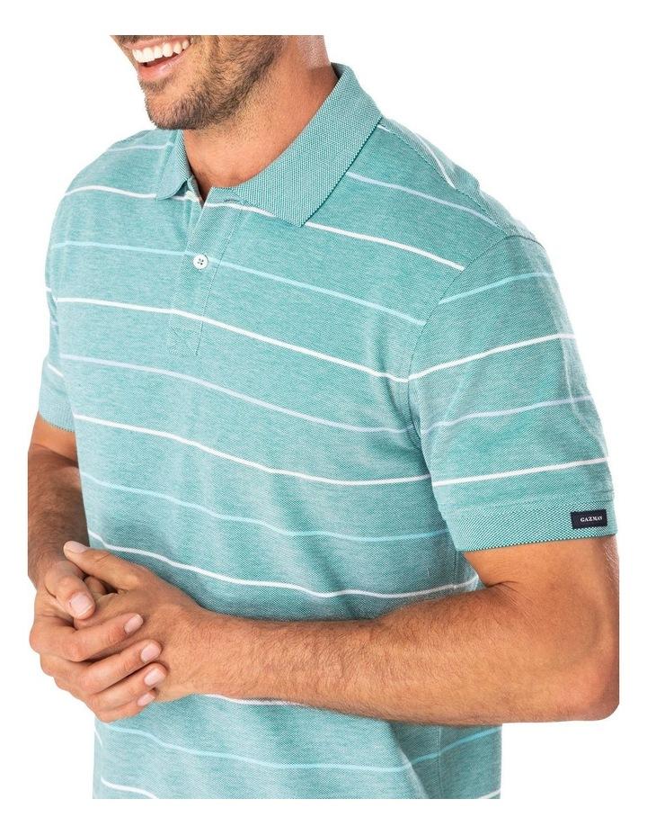 Fine Oxford Stripe Pique Polo image 3