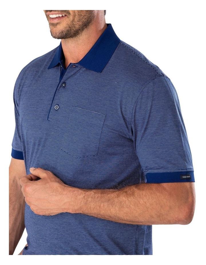 Mercerised Fine Stripe Polo image 3