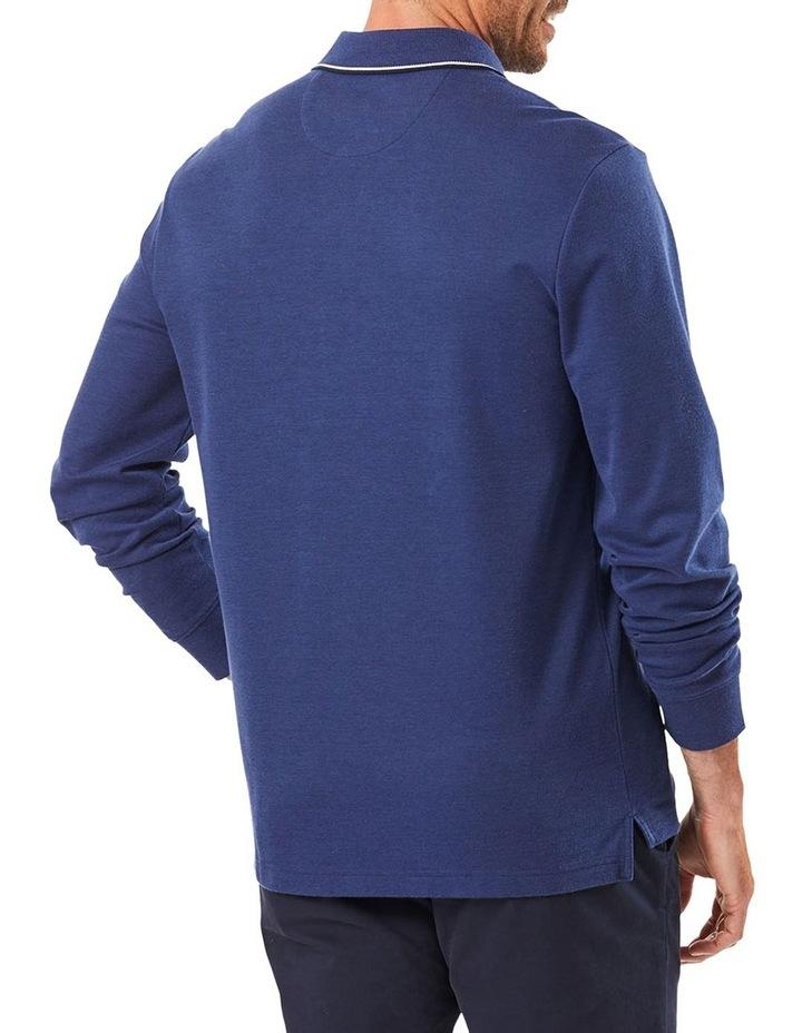 Long Sleeve Pique Polo image 1