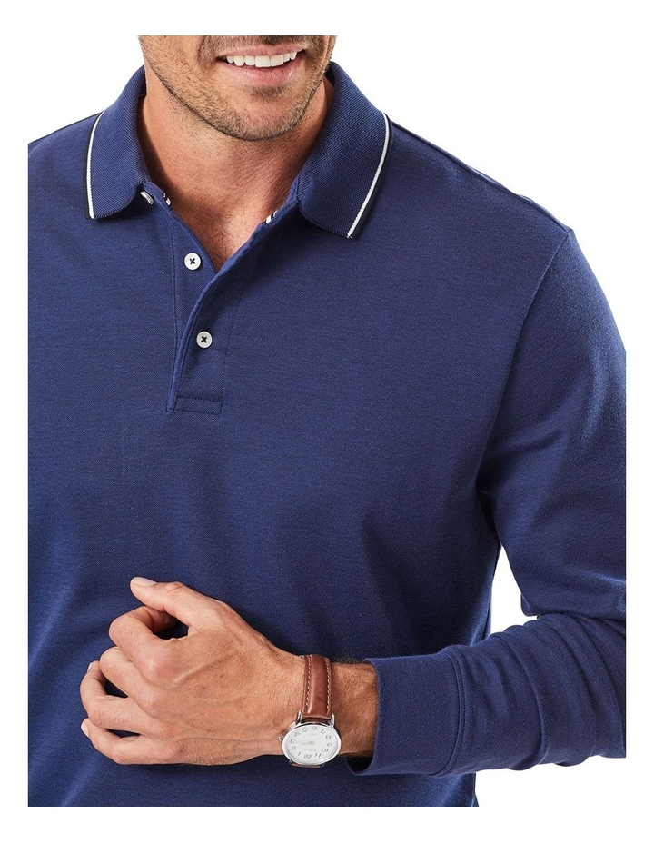 Long Sleeve Pique Polo image 2
