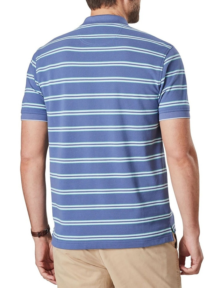 Pique Stripe Polo  Blue image 2