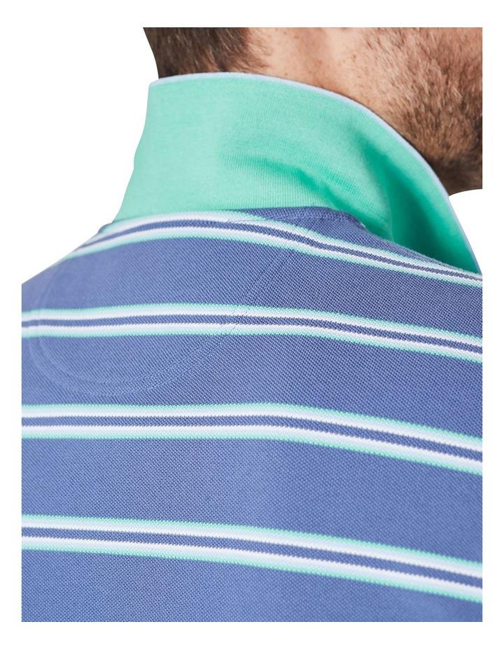 Pique Stripe Polo  Blue image 4